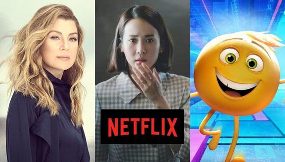 """Lo último de """"Grey's Anatomy"""", """"Parasite"""" y la divertida """"Emoji: La película"""" están entre los estrenos del 1 de septiembre en Netflix (Foto: ABC / Barunson E&A / Columbia Pictures)"""