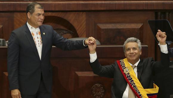 """Durante los comicios, Correa calificaba a Moreno de """"afable y conciliador""""; hoy sus adjetivos no son nada amables. Todo tiene su final (AP)."""