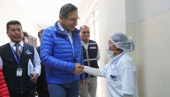 Martín Vizcarra en una visita de inspección al Hospital de Apoyo San Martín de Porres de Macusani, en Puno. ( Archivo / Presidencia de la República)