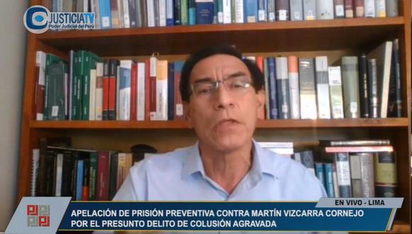 El expresidente Martín Vizcarra señaló que continuará colaborando con la justicia. (Captura)
