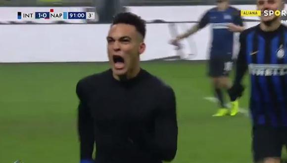 Lautaro Martínez anotó su tercer gol en la presente temporada de la Serie A. (Captura: YouTube)