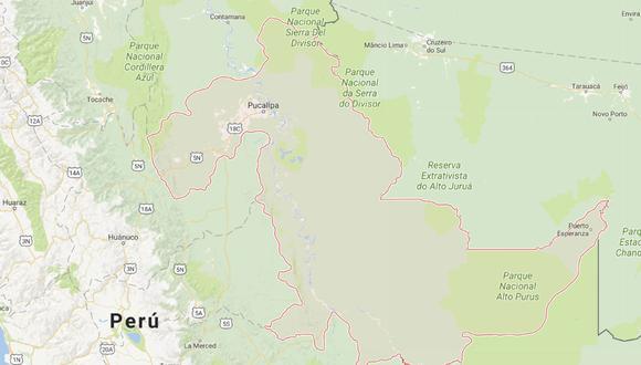 Ucayali: Temblor de 4.8 sacudió la provincia de Atalaya.
