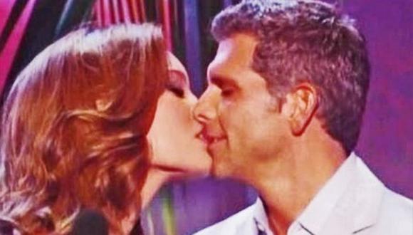 Zuleyka Rivera y Christian Meier en el momento del beso. (Internet)