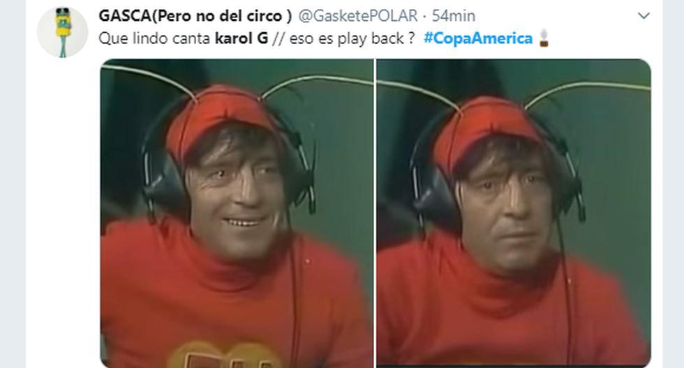 La inauguración de la Copa América 2019 y el partido donde Brasil se impuso a Bolivia dejaron los más divertidos memes. (Captura de pantalla)