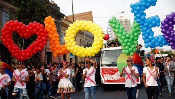 Marcha por el Día del Orgullo Gay en Lima. (Perú21)