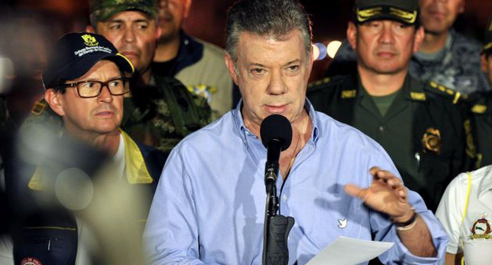 Juan Manuel Santos, mandatario de Colombia, lamentó el accidente. (EFE)