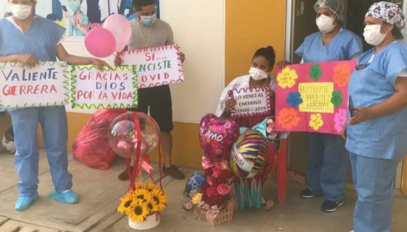 Coronavirus en Perú: Miss Perú Madre de Dios con siete meses de embarazo venció el COVID-19 (Foto: hospital Santa Rosa Pto Maldonado)