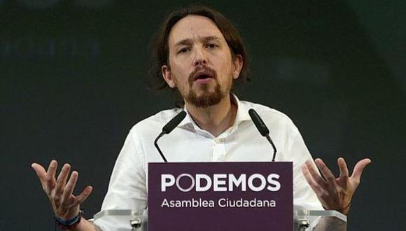 """Venezuela """"es una de las democracias más consolidadas del mundo"""", dijo Pablo Iglesias en un programa de televisión en Caracas en marzo de 2013. (Foto: AFP)"""