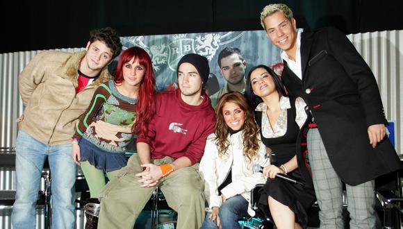 RBD estuvo formado por los también actores Alfonso Herrera, Anahí, Christian Chávez, Christopher Uckermann, Dulce María y Maite Perroni (Foto: AFP)