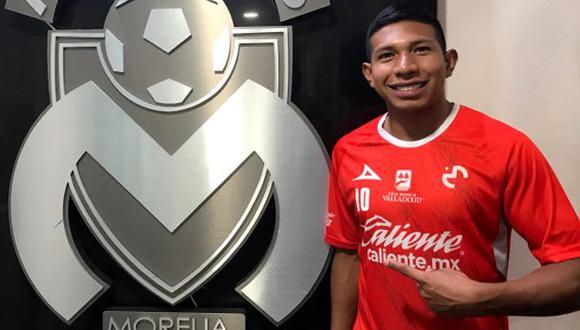 Edison Flores es jugador de Monarcas Morelia desde agosto del 2018. (Foto: @FuerzaMonarca)
