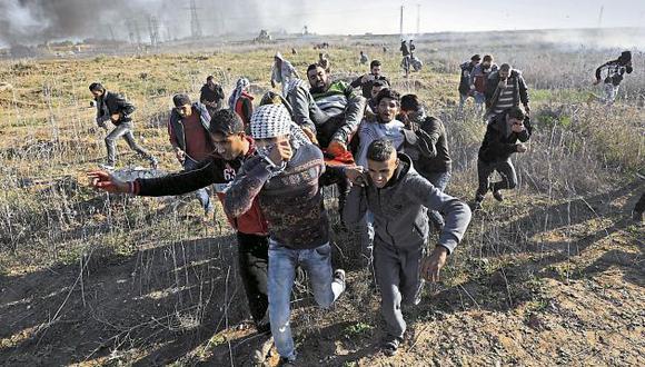 Violencia. Más de 300 palestinos resultaron heridos en protestas. (EFE)