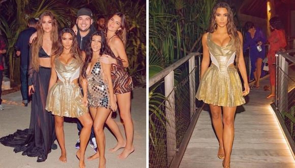 Kim Kardashian celebró su cumpleaños con todos los cuidados en una isla privada alejada del coronavirus. (Foto: Instagram / @kimkardashian).
