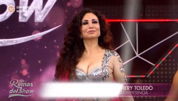 "Janet Barboza abandona la competencia de ""Reinas del Show"". (Foto: Captura América TV)."