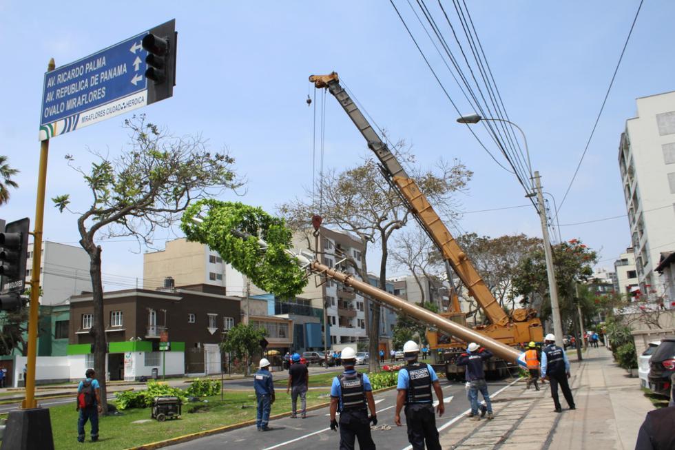 La Municipalidad de Miraflores retiró una antena de transmisión radioeléctrica y de telefonía celular que había sido instalada de manera irregular. (Foto: Municipalidad de Miraflores)