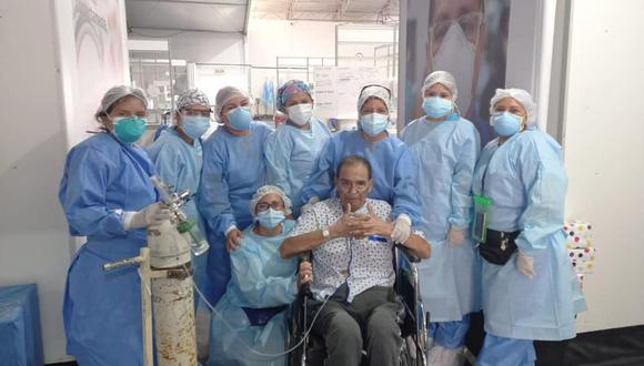 Áncash: adulto mayor logró superar el coronavirus luego de permanecer internados 60 días en UCI (Foto: Diresa Áncash)