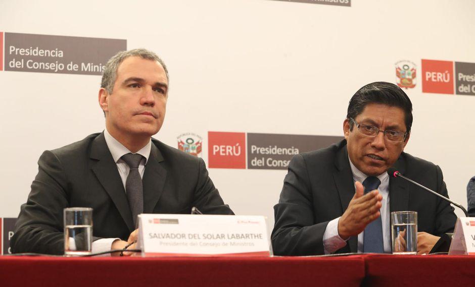 Del Solar y Zeballos defenderán propuesta (Rolly Reyna/GEC).