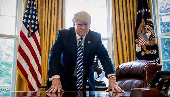 Donald Trump: En caída libre. (AP)