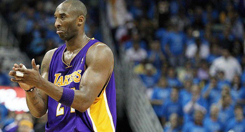 Fuerte lesión de Kobe Bryant lo alejó del top 5. (Reuters)