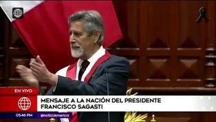 Francisco Sagasti se quiebra al finalizar discurso presidencial