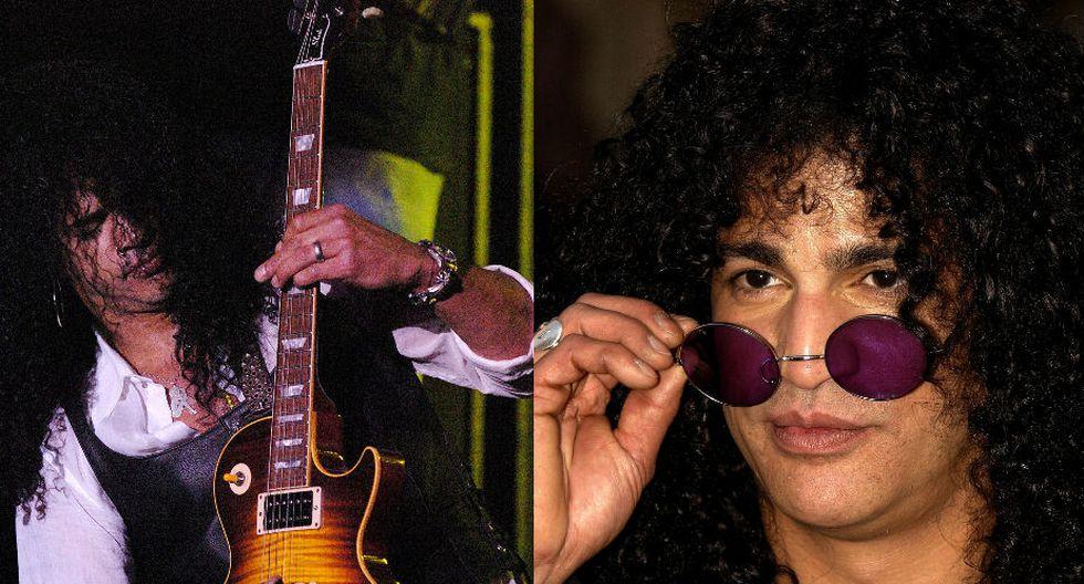 """Slash también afirmó en esta entrevista con Rolling Stone que el primer instrumento que tocó fue la batería. """"De niño toqué el tambor en una actuación de Navidad en el colegio"""". (AFP)"""