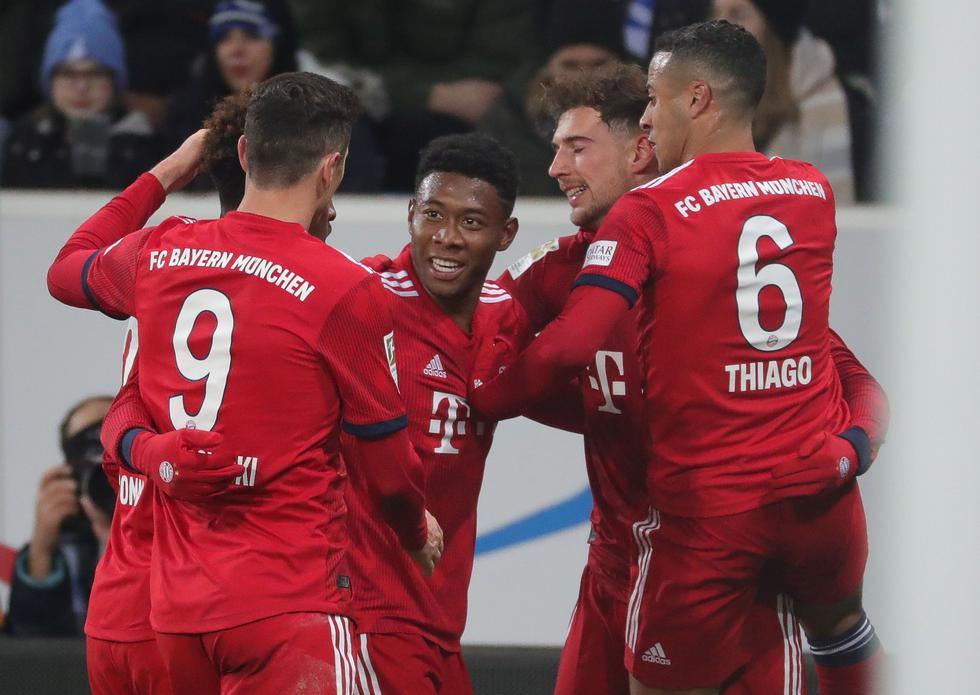 Bayern Munich venció 3-1 al Hoffenheim por la Bundesliga. (EFE)