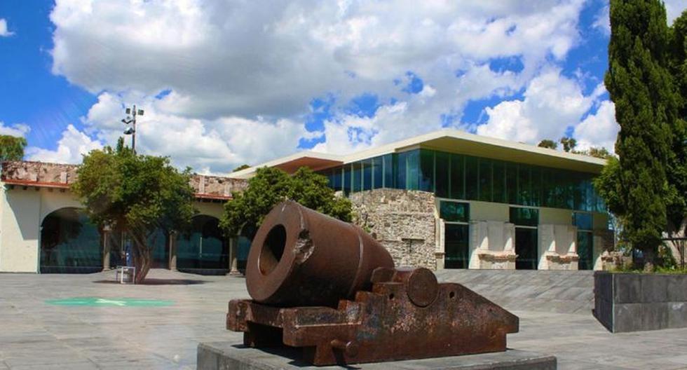 Una imagen del frontis del museo robado. Las autoridades informaron que los ladrones también sustrajeron las grabaciones de las cámaras de vigilancia. (Twitter / @FuerteGpe_INAH)