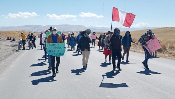 Cusco: manifestantes marchan a campamento minero en Espinar para dialogar (Juan Sequeiros)