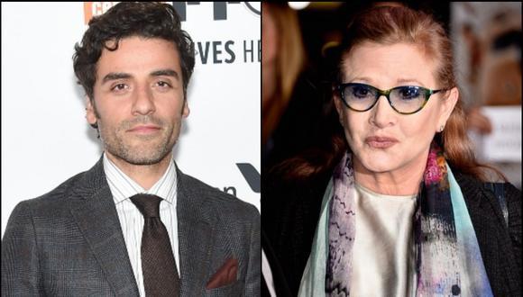 El actor Oscar Isaac aseguró que rendirán un sentido homenaje a la actriz Carrie Fisher. (Foto: Composición/AFP)