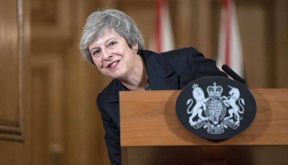 """May anunció el viernes que dejaría oficialmente su cargo el 7 de junio, y expresó su """"profundo pesar"""" por haber fracasado en concretar el Brexit. (Foto: AFP)"""