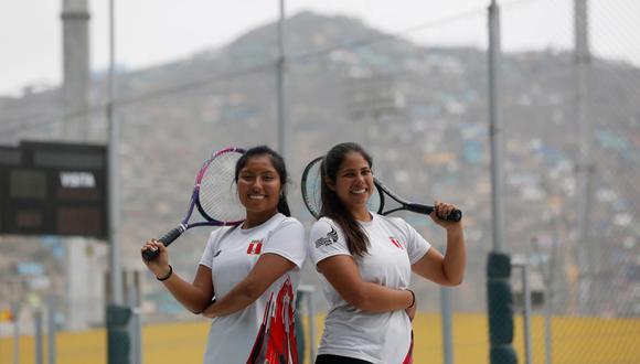Nathaly Paredes y Mía Rodríguez, medallistas del frontenis.