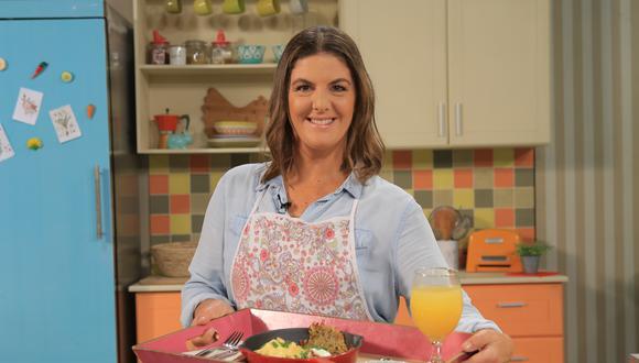 Ximena Llosa, cocinera y conductora del programa de TV Ximena en Casa. (Foto: Claudia Delgado / Movistar Plus).