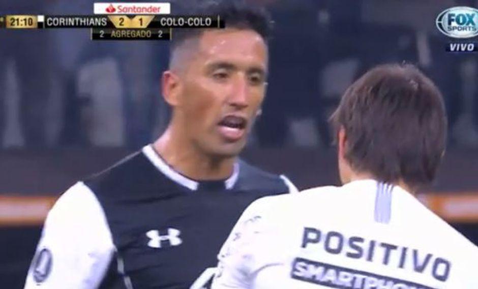 Así fue el cruce entre Lucas Barrios y Ángel Romero en Copa Libertadopres 2018. (Captura: YouTube)