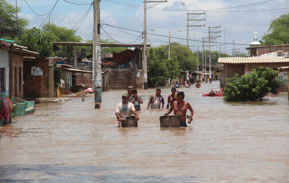Catacaos fue una de las zonas más afectadas por el desborde del río Piura.