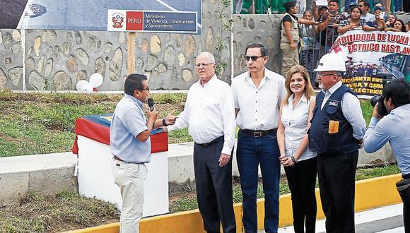 Respaldo. Vizcarra y Aráoz muestran su apoyo al mandatario ante la posibilidad de un nuevo pedido de vacancia presidencial. (LuisCenturión/Perú21)