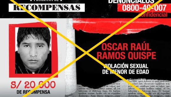 Oscar Raúl Ramos Quispe será internado en un centro de reclusión de Huancayo. (Mininter)