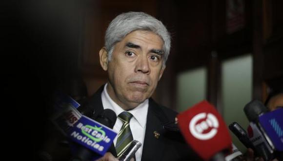 """""""Lo que diga el reglamento nosotros lo vamos a aplicar por supuesto"""", manifestó Del Águila.(Foto: GEC)"""