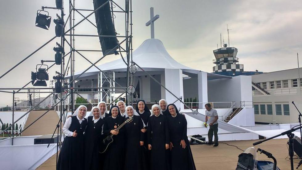 Misa del papa Francisco en Perú: 'Monjas rockeras' tocarán en la ceremonia del Sumo Pontífice. (Siervas/Facebook)