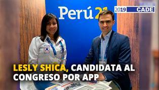 Lesly Shica, candidata al congreso por Alianza para el progreso [VIDEO]