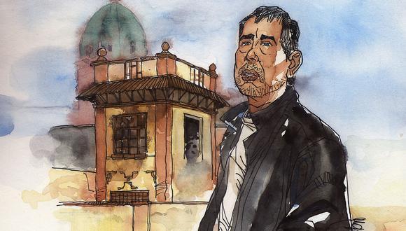 Retrato de Oscar Malca realizado por Mario Molina.