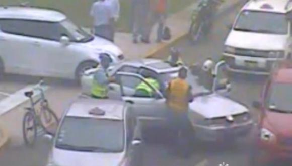 Rolando Arana fue capturado luego de atropellar a inspector de tránsito de San Isidro. (Municipalidad de San Isidro)