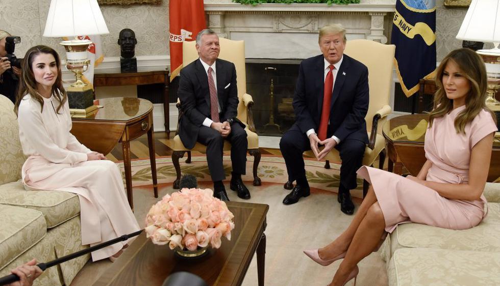 Donald y Melania Trump con los reyes de Jordania. (Foto: EFE)