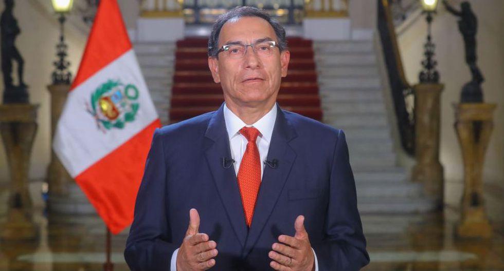 """""""Levantamos nuestra voz de protesta para defender la democracia en América Latina"""", señaló Vizcarra. (Foto: Andina)"""
