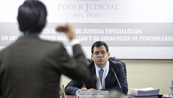 El juez Jorge Chávez Tamariz acogió en parte el pedido del fiscal Hamilton Montoro. (GEC)