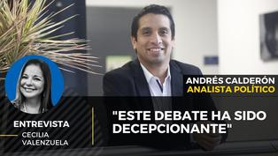 Andrés Calderón: 'Este debate ha sido decepcionante'