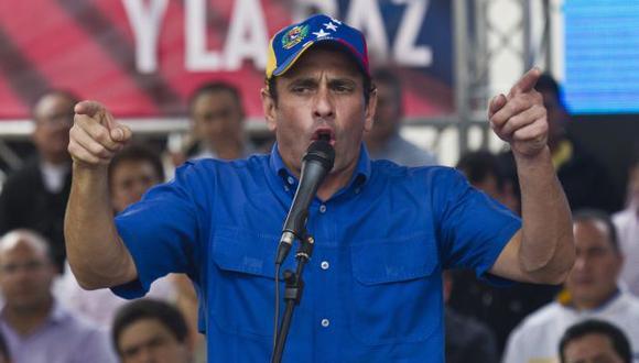 """RECARGADO. El líder de la oposición vuelve a la carga contra el gobierno que considera """"ilegítimo"""". (EFE)"""