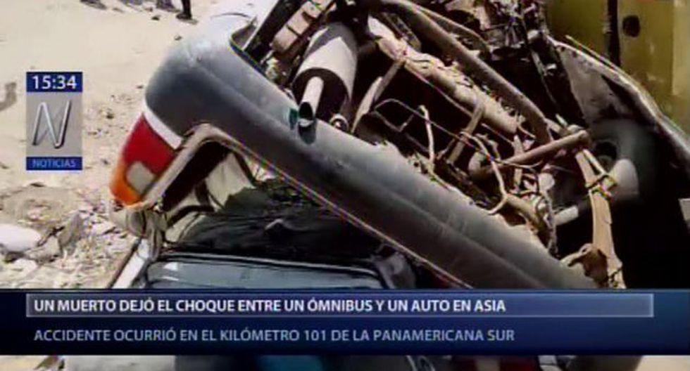 En el accidente de tránsito perdió la vida el taxista Santiago Ramos Francia, quien trabajaba en la zona. (Foto: Canal N)