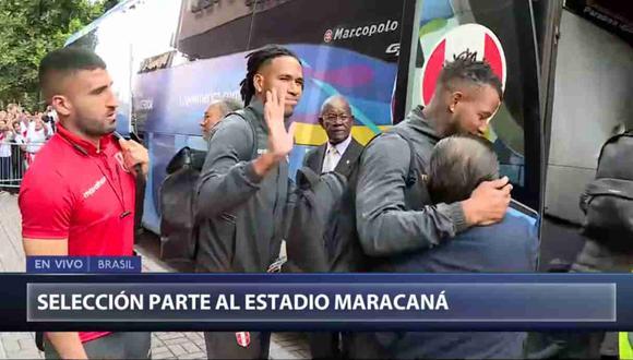 Cientos de hinchas le dieron la despedida a la selección peruana antes de partir al Maracaná. (Captura y video: Canal N)