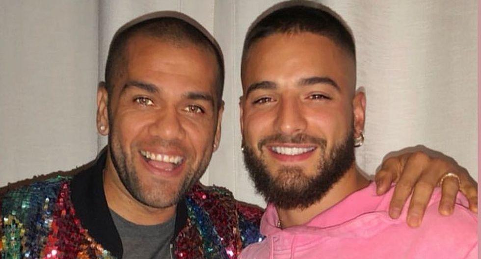 El colombiano Maluma y el brasileño Dani Alves se juntaron en París. (Foto: @maluma)