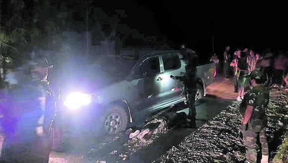 Ayacucho: moradores de la zona reportaron el hecho a los efectivos policiales, quienes hallaron sin vida al conductor de la camioneta. (Foto: Difusión)