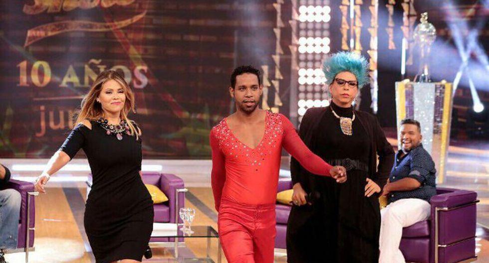 En la última edición de 'El gran show', 'Giselo' y Michelle 'Come Carne' (Ernesto Pimentel) pusieron su cuota de humor. (GV Producciones)